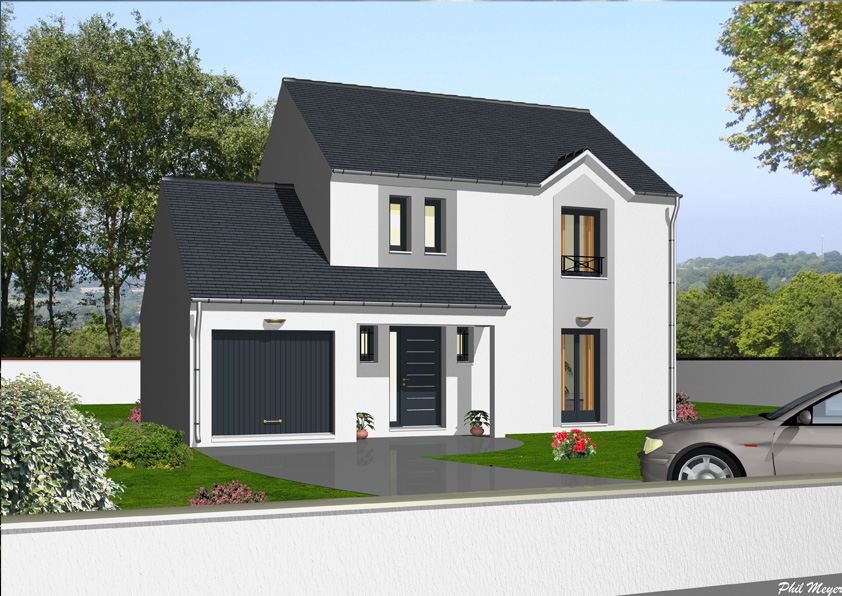 Mod le et plan de maison individuelle ormesson for Modele architecture maison