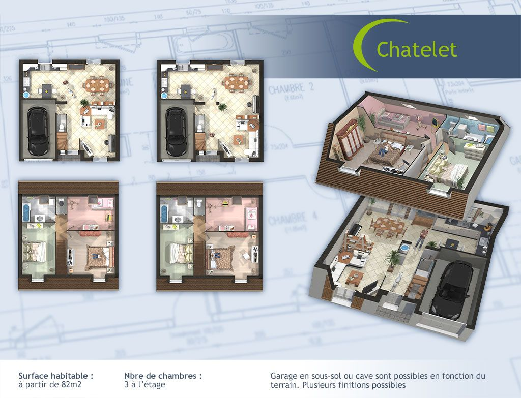 Cool plan chatelet with prix maison a construire sans terrain for Prix maison a construire sans terrain